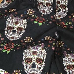 Deb Pants - Women's Size XS Punk Sugar Skull Leggings